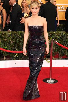 Jennifer Lawrence in Christian Dior at the 2014 SAG Awards | Tom & Lorenzo Fabulous & Opinionated