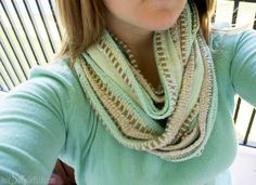 """How To """"Fake"""" an Infinity Scarf tutorial on http://ThisSillyGirlsLife.com"""