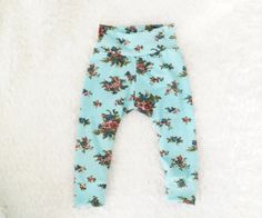 Hey, I found this really awesome Etsy listing at https://www.etsy.com/listing/183112564/infanttoddler-aqua-rosebud-leggings