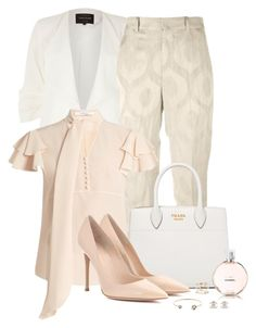 """Spring/Summer Workwear"" by spells-and-skulls ❤ liked on Polyvore featuring River Island, MAC Cosmetics, OPI, Isabel Marant, Prada, Givenchy, Gianvito Rossi, Andrea Fohrman, Cachet and Chanel"