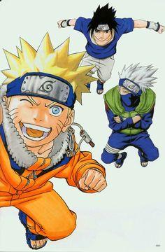 #Naruto Uzumaki ArtBook 1 - 080 #sasuke #kakashi