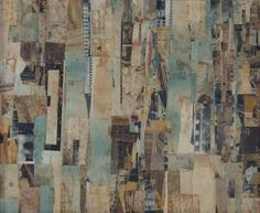 """Keith Martin. """"Shapes in Space,"""" collage : Lot 1636"""