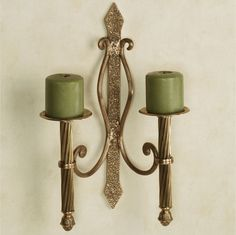 Trinity Double Candle Wall Sconce Pair