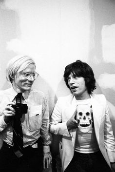 Mick Jagger and Andy Warhol ~ iconic in their own unique ways. I can't think of many artists who achieved the status they did long before current social media existed. Like being shot out of a cannon, SM propels people into the realm of 'star' without their having done anything to earn it. These two earned it ~ in spades.