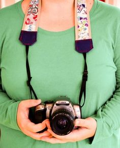 Welcome to day eleven of my 12 Days of Handmade Gifts! Today I am going to show you how to make a fun patched camera strap. I love vintage feed sack fabric and have dozens of little scraps. Diy Camera Strap, Leather Scraps, Diy Gifts, Handmade Gifts, Cool Patches, Feed Sacks, Leather Pieces, Fabric Strips, Creative Inspiration