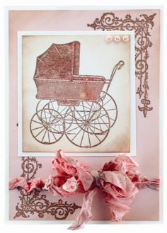 Vintage Baby Carriage By Diana Kovacs for Hampton Art Nursery Crib, Crib Bedding, Hampton Art, Baby Images, Baby Carriage, Prams, Graphic 45, Stamp Collecting, Card Tags