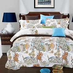 TheFit Paisley Bedding for Adult Duvet Cover Set Cotton, Queen King Set, 4 Pieces (King) – luxurybedsheets. Luxury Bed Sheets, Luxury Bedding, Paisley Bedding, Duvet Cover Sets, Comforters, King, Queen, Blanket, Cotton