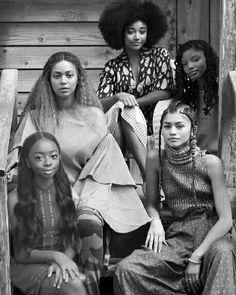 Beyonce, Amandla Stenberg, Zendaya, and Skai Jackson lmfao