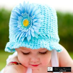 Crocheted Beanie Bonnet Hat for Babies and Toddlers by krantwist, $24.99