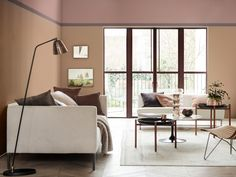 Zuhause, Farbe Des Jahres, Farbpalette, Farben, Halb Bemalte Wände, Die  Farbe