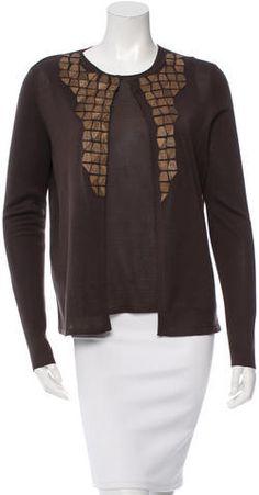 Akris Silk Embellished Cardigan Cardigans, Sweaters For Women, Silk, Stylish, Blouse, Tops, Fashion, Moda, Fashion Styles