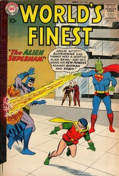 Superman Fan Podcast Episode #287 Part I: Superman Family Comic Book Cover Dated November 1959: World's Finest Comics #105! http://thesupermanfanpodcast.blogspot.com/2013/11/episode-287-part-i-superman-family.html