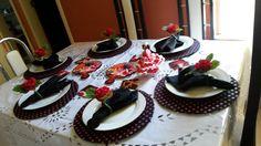Decoração de #mesaespanhola, recebendo com estilo e inspiração. Tendo como cardápio: paella