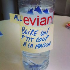 Evian eau post-it mashup