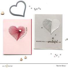 String Art Heart, Embroidered Paper, Scrapbook Blog, Embroidery Cards, Altenew, Book Journal, Journals, Creative Cards, Stencils