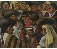 by Eduardo Kingman Riofrío (Loja 1913~1997 Quito) who was one of Ecuador's greatest artists of the 20th century, among the art circles of other master artists such as Oswaldo Guayasamin and Camilo Egas | but It's NOT a work of Oswaldo Guayasamin!