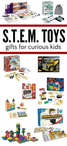 Creative STEM Gifts for Maker Kids STEM is hot right now. STEM learning gifts for kids. Toys and games that promote curiosity and invention. Science Gifts For Kids, Kids Gifts, Lego For Kids, Stem For Kids, Science Activities, Activities For Kids, Science Experiments, Stem Learning, Kids Learning Toys