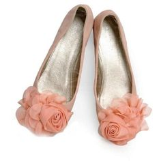 and Sweet Style Big Flowers Embellished Round Head Design Women's Flat Shoes Pink Ballet Shoes, Pink Flats, Ballerina Pumps, Trendy Shoes, Cute Shoes, Me Too Shoes, Style Doux, Flower Shoes, Big Flowers