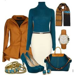 Take a look at the best images of business casual for women in the photos below and get ideas for your work outfits! Travel_Domestic-Business packing for a business trip – several outfits in business casual style Mode Outfits, Skirt Outfits, Fashion Outfits, Womens Fashion, Fashion Trends, Fashion Inspiration, Fashion Tips, Winter Outfits For Work, Fall Outfits