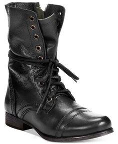 7bd6aa68581 Steve Madden Women s Troopa Combat Boots - Black 5M