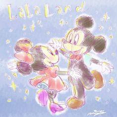 資料見ずに記憶と想像でLa La Land   #lalaland #disneyart #fanart #mickeymouse #minniemouse #movie #みんなでララポーズ #picsart #ディズニー #ミッキー #ミニー #illustrator #illust #イラストレーター #イラスト #お絵かき #ララランド