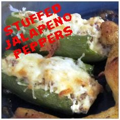 Check out this Stuffed Jalapeno Pepper Recipe via CHill Thoughts! this is the recipe for you! Yummy Appetizers, Yummy Snacks, Appetizer Recipes, Yummy Food, Yummy Eats, Fun Food, Spicy Recipes, Cooking Recipes, Tailgate Food