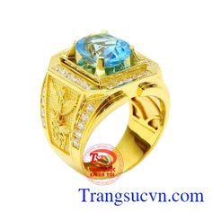 Nhẫn Nam Topaz - Nhẫn Nam Đẹp - TRANG SỨC NAM - Công Ty Trang Sức Em Và Tôi -Trangsucvn.com