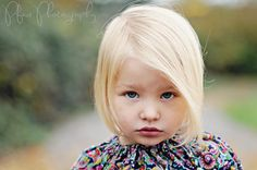Blonde toddler girl portrait