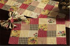Constance Patchwork Quilted Placemats and Napkins Set of 6 Nancy's Nook