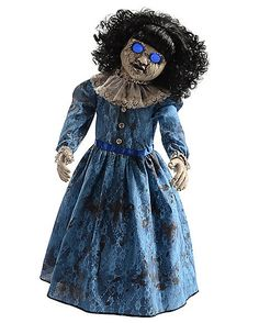 Roaming Antique Doll - Add some creepy decor to your home on Halloween when you bring home the Roaming Antique Doll. This eerie, sound-activated doll comes complete with cos Halloween Spirit Store, Halloween Circus, Halloween Wishes, Halloween Goodies, Halloween Doll, Halloween Items, Halloween Birthday, Holidays Halloween, Vintage Halloween