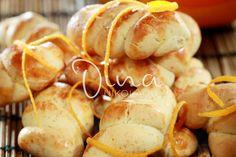 Cookies with cinnamon orange Greek Sweets, Greek Desserts, Greek Recipes, Sweets Recipes, Cookie Recipes, Different Recipes, Pretzel Bites, Bakery, Yummy Food
