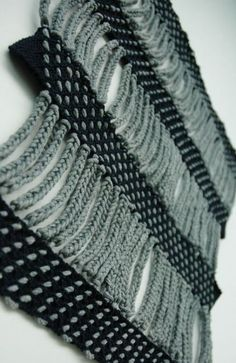 Fabric manipulation and textile design - Contrasting traditional techniques such as macrame and knot-making with unconventional materials, this project explores architectural forms and optical illusions. Knitwear Fashion, Knit Fashion, Fashion Fabric, Trendy Fashion, Fashion Textiles, Fashion Fashion, Knitting Stitches, Knitting Designs, Knitting Patterns