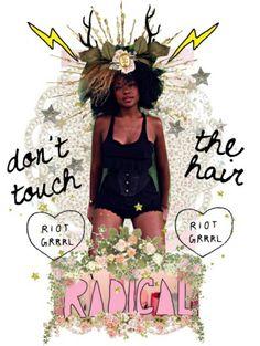 Riot Grrrl | Femonster                                                       … Curly Weaves, Riot Grrrl, Intersectional Feminism, Natural Hair Inspiration, Punk, Black Girl Magic, Black Girls, Girl Gang, White Women