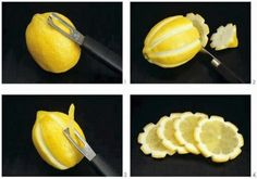 YSK How To Make Decorative Lemon Slices just because you can