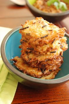 how to use your leftover rice: RICE FRITTERS!  1 cup cooked rice, packed  1 onion, grated  1 egg  2 tablespoons cornstarch  oil for frying