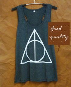 Joli débardeur nageur shirt Harry Potter réservoir reliques de la mort débardeur taille S M L XL top sans manche / singlet / t-shirt / vêtements vente