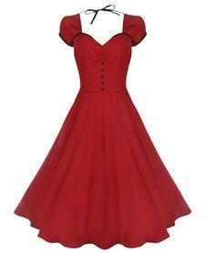 Lindy Bop Bella Red 50's Swing Dress