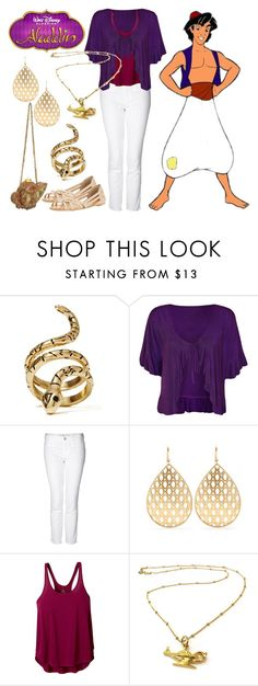 """Aladdin"" by janastasiagg ❤ liked on Polyvore featuring Adia Kibur, WearAll, M.i.h Jeans, Jamie Wolf, Mary Frances Accessories, prAna, Miss Selfridge, disney, disneybound and disneyinspired"