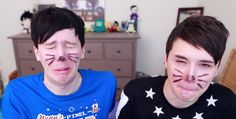And the awards for sexiest faces ever go to... Dan and Phil! Well done, guys.