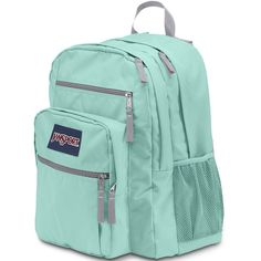 Jansport Big Student Aqua Dash Backpack (61 CAD) ❤ liked on Polyvore featuring bags and backpacks