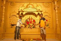 Ganpati Decoration Theme, Ganesh Chaturthi Decoration, Ganpati Festival, Ganesha, Shiva, Wedding Decorations, Crafts, Painting, Beautiful