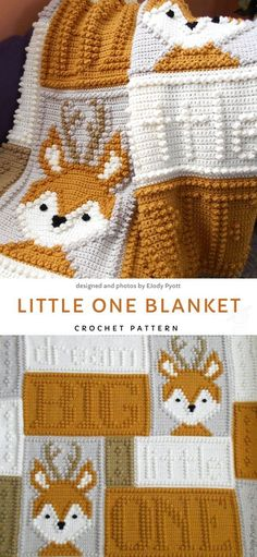 and Easy Crochet Baby Blankets. This blankie is made out of several differ.Sweet and Easy Crochet Baby Blankets. This blankie is made out of several differ. Baby Fox Bobble Stitch Blanket by Melu Crochet pattern Modern Crochet Simple, Free Crochet, Chevron Crochet, Kids Crochet, Free Knitting, Crochet Baby Stuff, Crochet For Baby, Knitting Beginners, Crochet Baby Sweaters