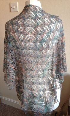 Haruni Hand Knitted Sea Silk Lace Shawl / Wrap by Snugglescuddles, £90.00