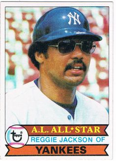 1979 Topps Reggie Jackson New York Yankees Baseball Card for sale online Yankees Outfit, New York Yankees Baseball, Yankees Fan, Baseball Cards Worth, Baseball Card Values, Mr October, Equipo Milwaukee Brewers, Reggie Jackson, Baseball Pictures