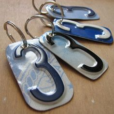 License Tag Number (or Letter) Keychain