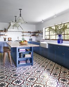 Modern Kitchen Floor Tile Pattern Ideas Our 5 Favorite Cement Kitchen Tile Designs Granada Modern Floor pertaining to [keyword Kitchen Inspirations, Kitchen Flooring, Kitchen Remodel, Kitchen Decor, Modern Kitchen, New Kitchen, Home Kitchens, Kitchen Tiles, Spanish Kitchen
