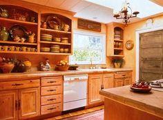 rustic mexican kitchen design ideas - Google Search