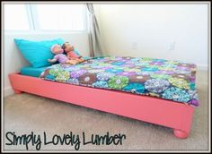 Hey friends!  I'm back today sharing a quick, easy, AND inexpensive toddler bed before spending the weekend outside enjoying the beautiful weather we are finally getting here in NE!  If you have a ...