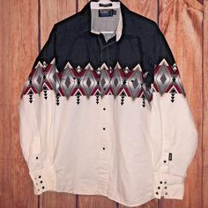 BROOKS & DUNN PANHANDLE SLIM AZTEC TRIBAL WESTERN PEARL SNAP SHIRT 16.5 34/35 | Clothing, Shoes & Accessories, Men's Clothing, Casual Shirts | eBay!
