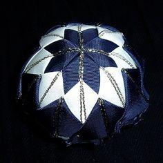 Falešný patchwork, vánoční koule - návod
